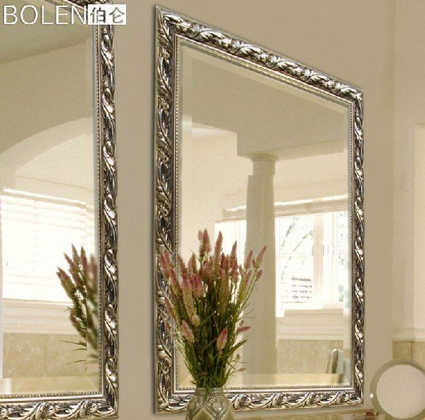 Classic large bathroom mirror wall mirror in mirrors from for Large mirrors for bathroom walls
