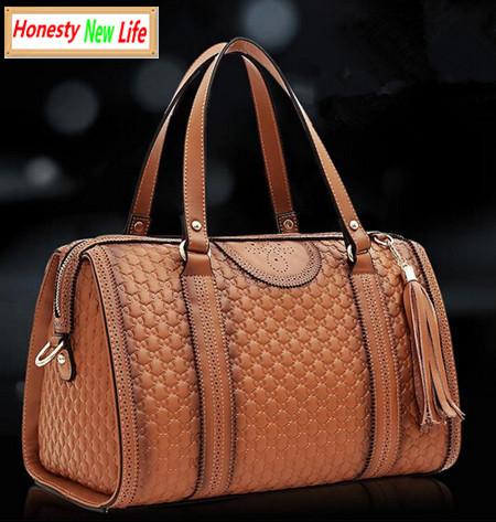 Top Grade Luxury Guaranteed 100% Genuine Leather Pillow-shaped Handbag 2015 women vintage embossing zipper tassel inspired bags<br><br>Aliexpress