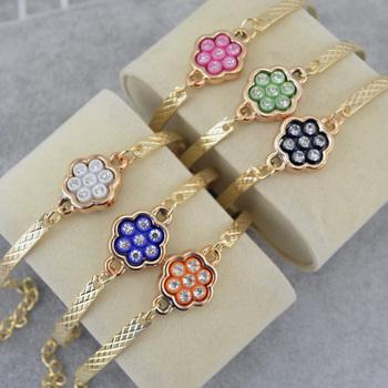 Женщина очарование кулон браслеты браслеты 18 К позолоченный индийский браслет роковой ...