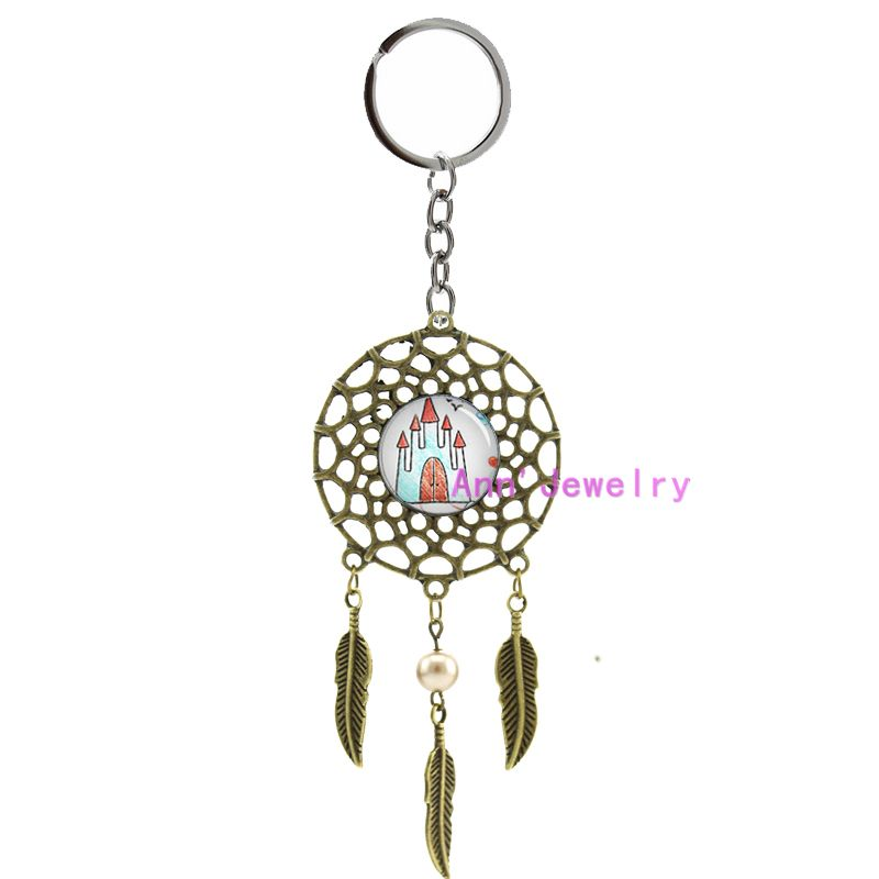 299-Keyring Custom dream catcher of Your Children's Drawings, Paintings or Computer Art Work WITH EXPRESS SHIPPING art kids(China (Mainland))