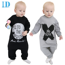 Autumn 100% Cotton Baby Boy Clothes Girl Baby Rompers Baby Clothes NO SLEEP Baby Clothing Harem Style Pants Collapse JY0176(China (Mainland))