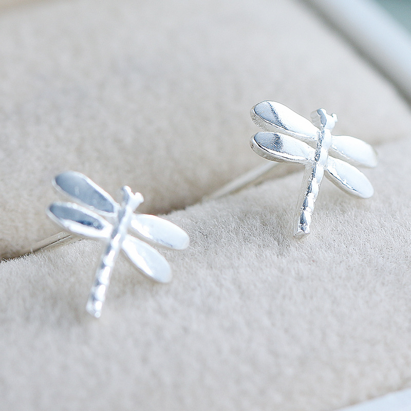 Primary sources cyw europe hollow section 925 sterling silver dragonfly earrings micro pave earrings accessories genuine