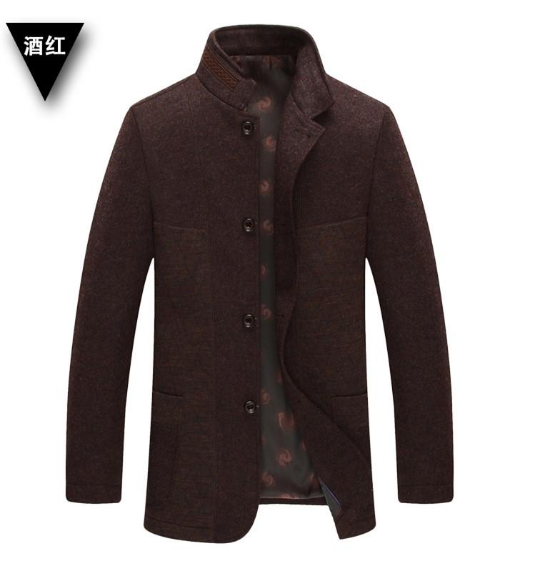 Wool Winter Coats Man Famous Brand Mens Pea Coat With Hood ...