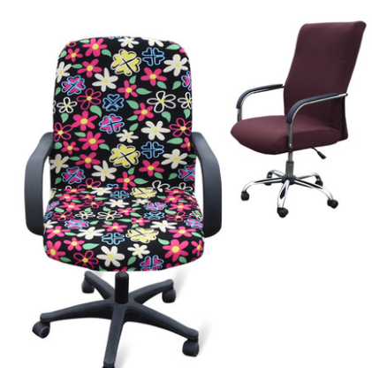 Large size office Computer chair cover side zipper design arm chair cover recouvre chaise stretch rotating lift chair cover(China (Mainland))