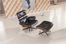 Free Shipping Lounge chair, luxury full top grain leather recliner chair and ottoman set, 360 degree whirl Office chair(China (Mainland))