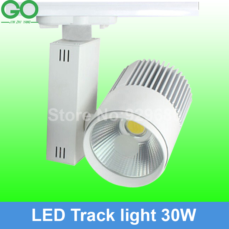 free shipping(10pcs/lot),LED Track Light 30W COB Rail Light Spotlight lamp Equal to 300w Halogen Lamp 110v 120v 220v 230v 240v(China (Mainland))