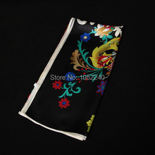 China Silk World Women s fashion square silk scarves floral print 100 silk wrap women s