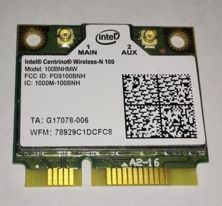 Wireless card for INTEL CENTRINO WIRELESS-N 100 HALF MINI PCI-E wifi CARD MINICARD 100BNHMW(China (Mainland))