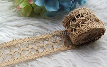 Natural Vintage Hessian Burlap Lace Ribbon