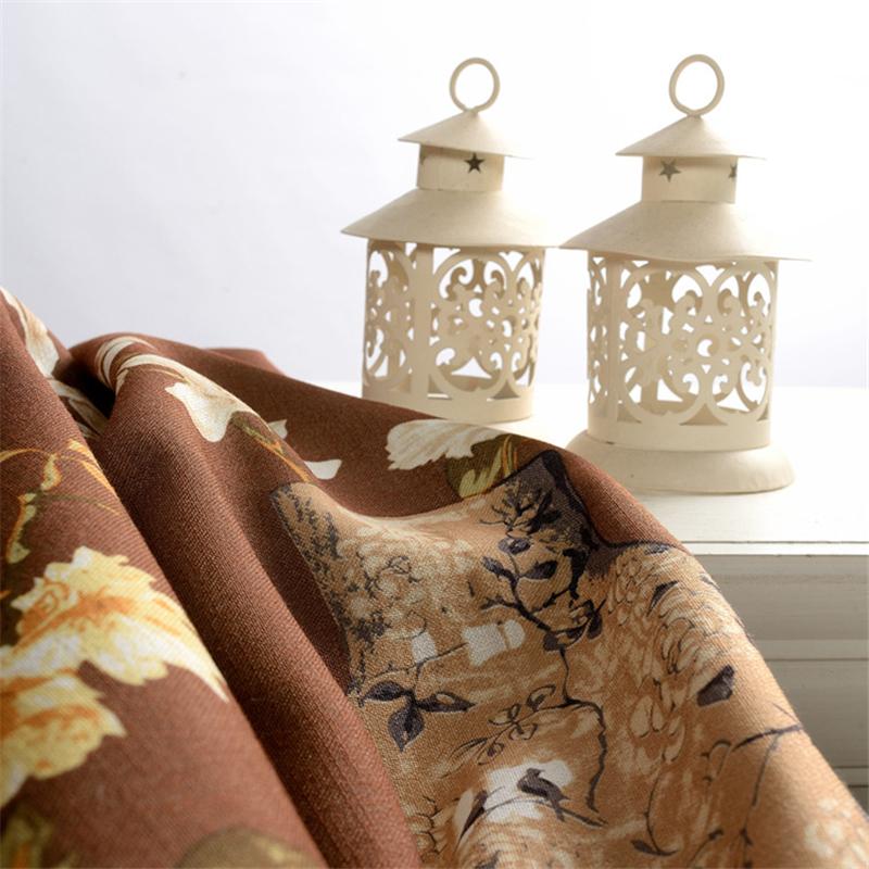 Traditionelle Chinesische vorhänge Vase muster Vorhänge Braun ...