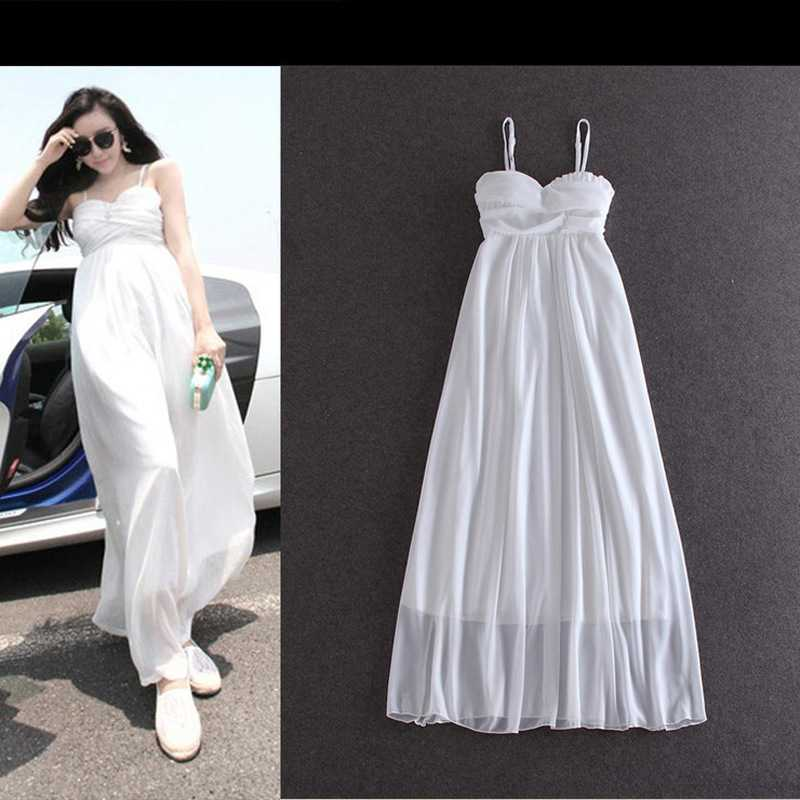 Top Quality European and American womens spring of 2015 boho white MOP put straps dresses 422 1435376133(China (Mainland))
