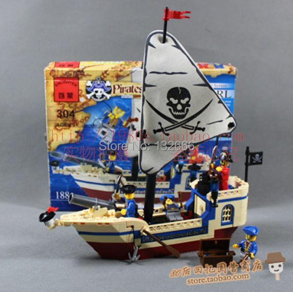 Toy Pirate Lego : Compatible with lego luban intellectual puzzle assembling