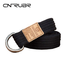 Buy CNRUBR Canvas Knit Men Belts Long 120cm Unisex Luxury Army Tactical Belts Metal Buckle Military Waistband Men Straps Jeans for $4.32 in AliExpress store
