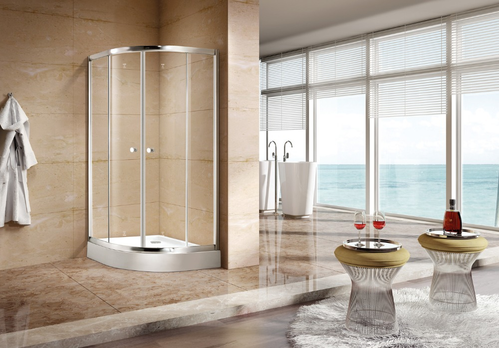 900x900x1950mm Complete Quadrant Glass Shower Enclosure Corner Cubicle Bath Shower Cabin DY-D1392(China (Mainland))