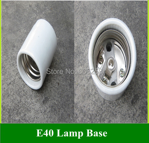 Lighting Accessories E40 Ceramic Lamp Base Street / photography Bulbs Light Holder Socket 50PCS(China (Mainland))