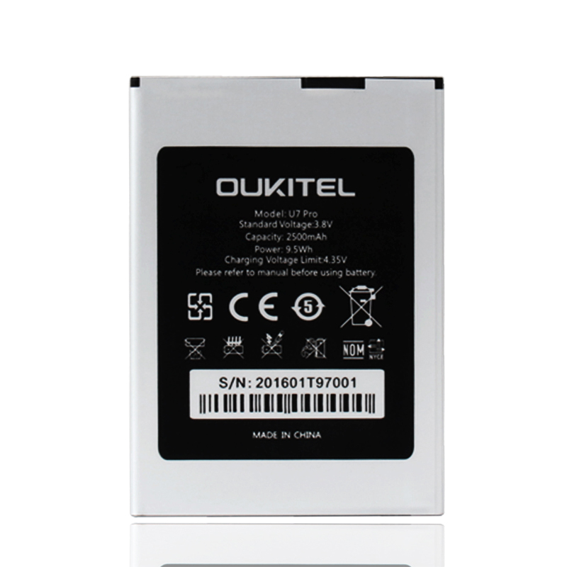 Ocolor for Backup Oukitel U7 Pro Battery 2500mAh For Oukitel U7 Pro Mobile Phone