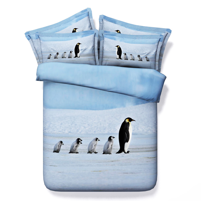 Penguin bedding set California king size queen full twin ...