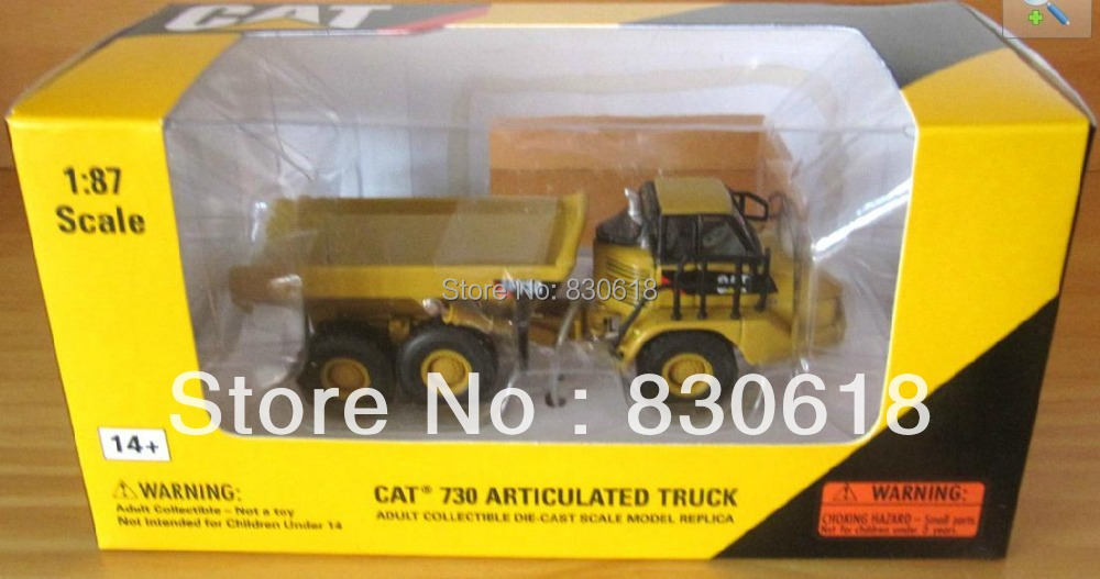 NORSCOT Die-cast CAT 730 Articulated Dump Truck 1/87 HO Scale NEW #55130 toy(China (Mainland))