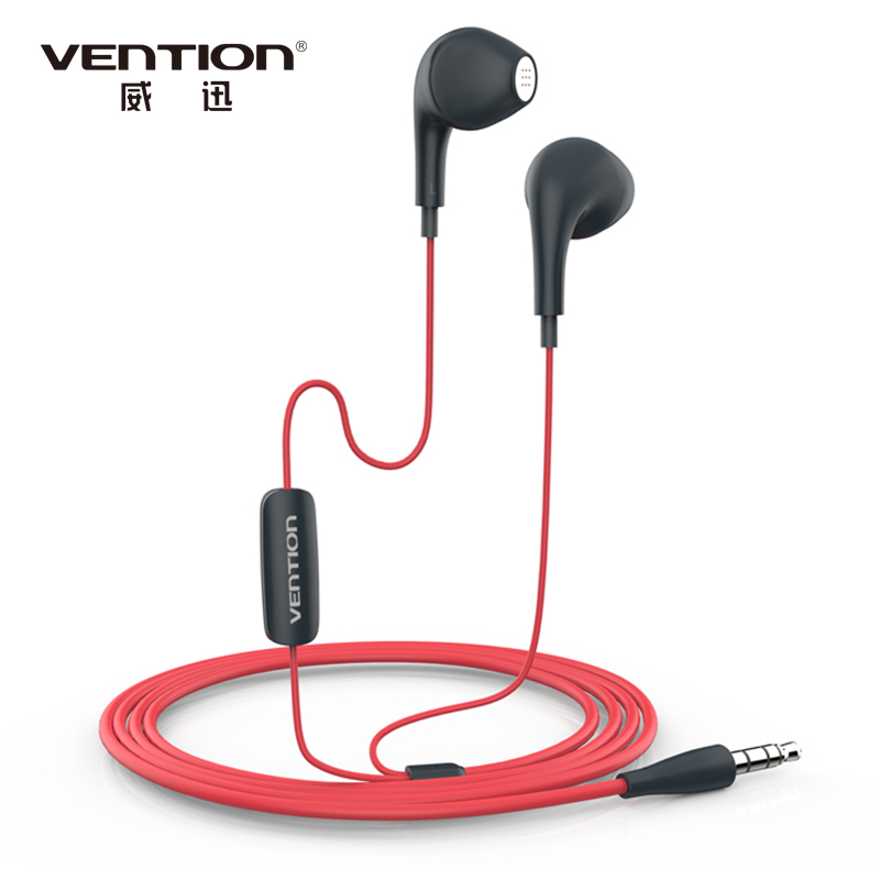 Vention VAE-T03 3.5mm Aux Audio Dolphin Earphone Headset For XiaoMi Samsung iPhone MP3 MP4 With Remote And MIC(China (Mainland))