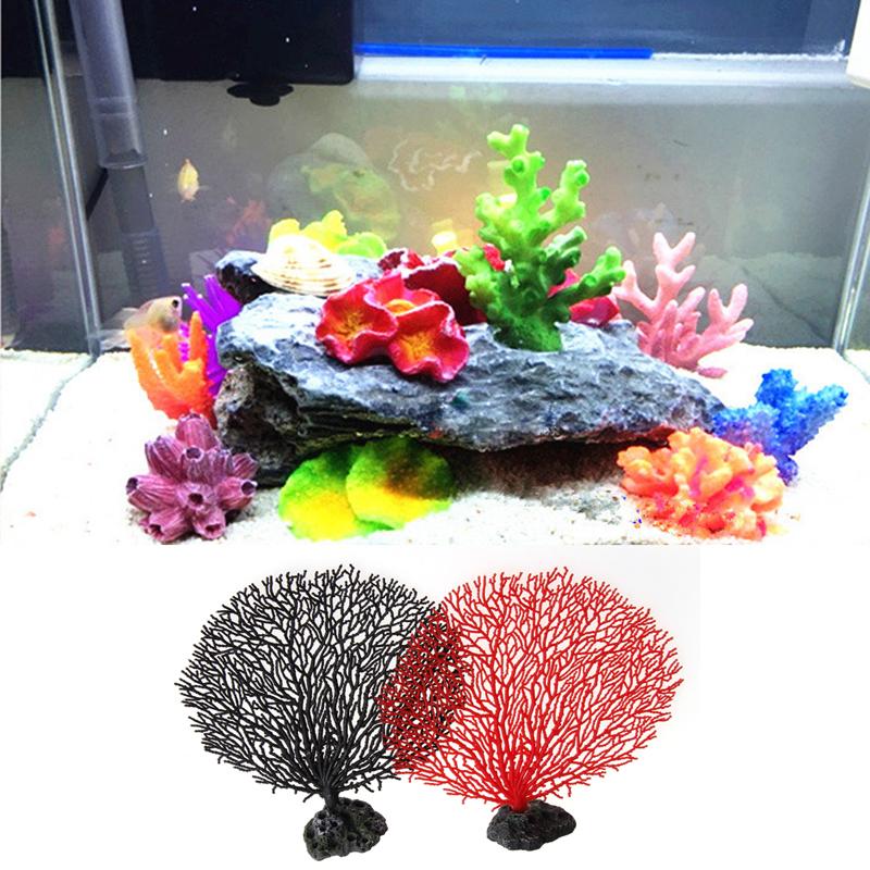 E74 Time-limited 1 pc Fish Decorations & Ornaments Coral Tree Aquarium Tank Simulation Artificial Resin Decoration Soft Ornament(China (Mainland))