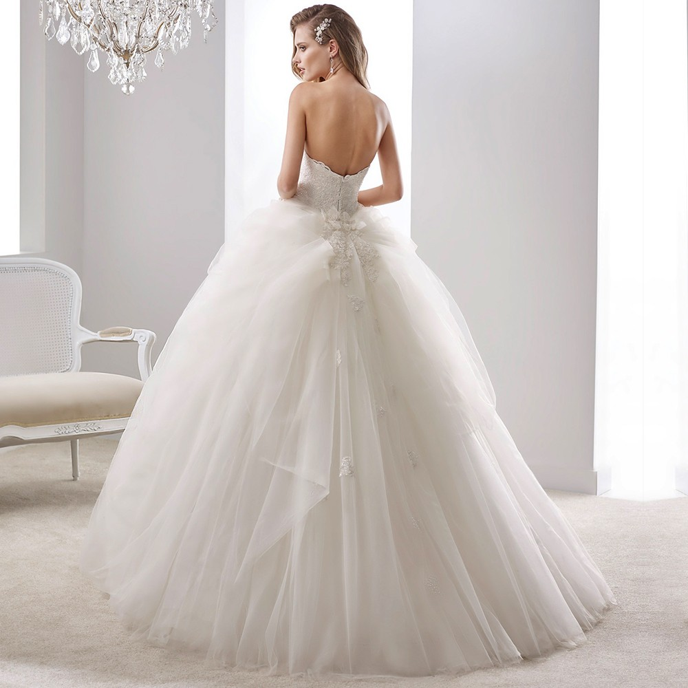 Gallery For Gt Strapless Poofy Princess Wedding Dresses