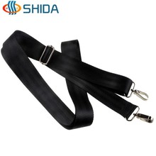 3.8*150cm Black Shoulder Straps Bag Accessories Polyester Webbing Bag Straps with Double Hanger Hook for Computer Bags Backpack(China (Mainland))