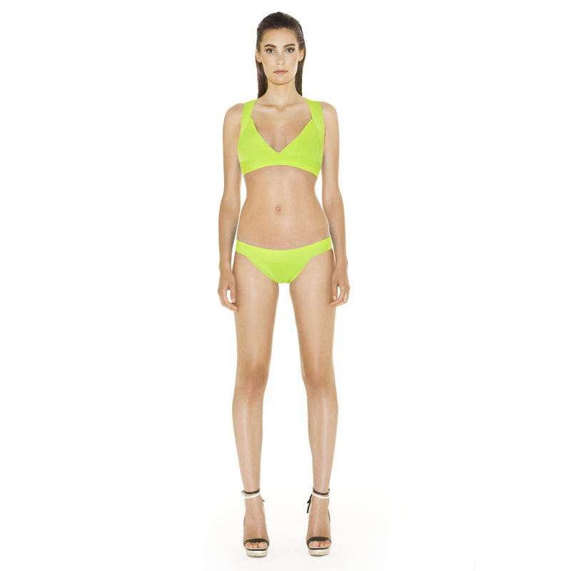 Free Shipping 2014 New Bikini Set Swimwears Two Piece Bandage Swimsuit for Women LIME GREEN Sexy Cross Back Summer Suit   Одежда и ак�е��уары<br><br><br>Aliexpress
