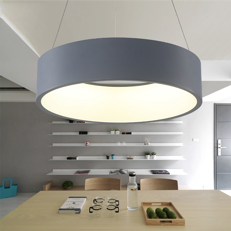 Modern Led Pendant Lights Circle Suspension For Dining Room Pendant Lamps Hom