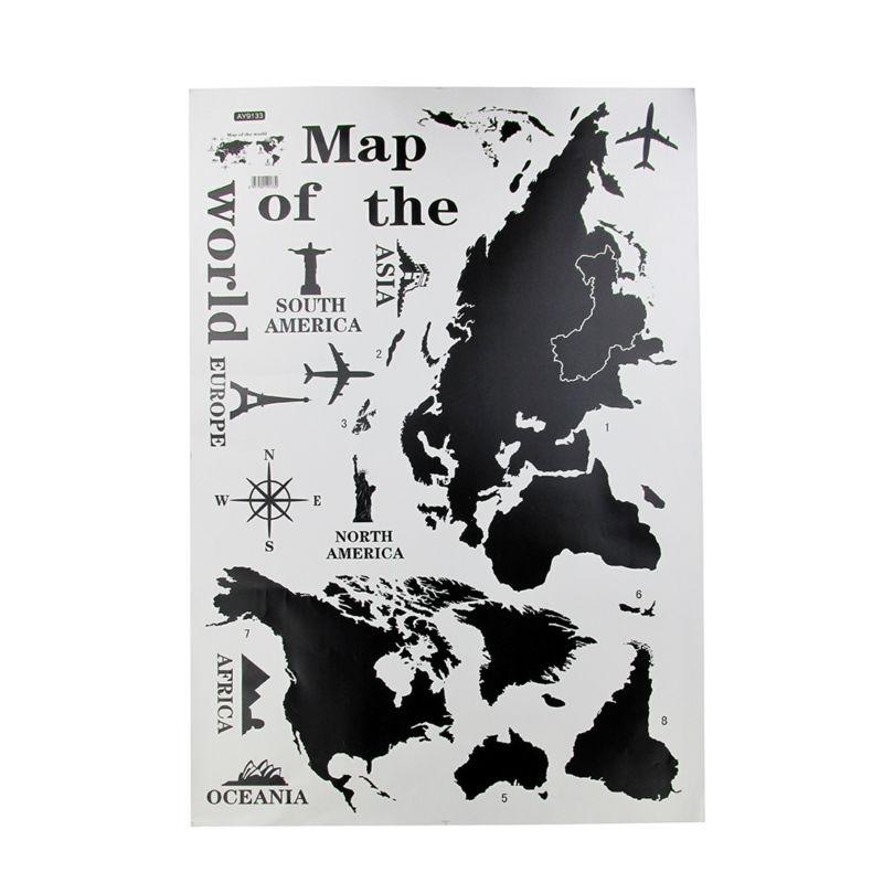 world map wall sticker WS019-2