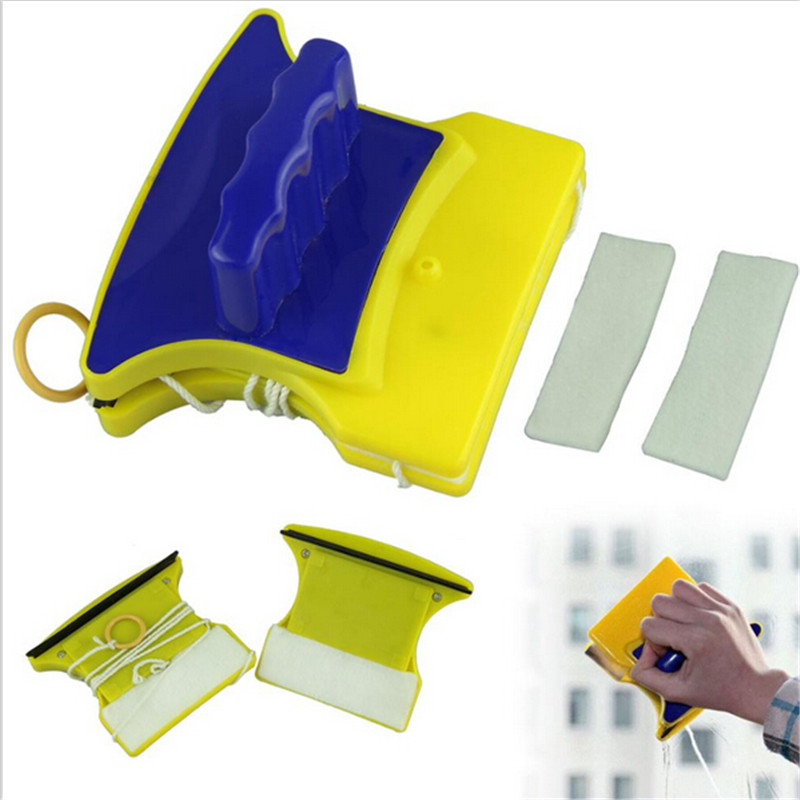 2016 New Magnetic Window Glass Cleaner Double Side Glass Wiper Cleaner Surface Useful Brush(China (Mainland))