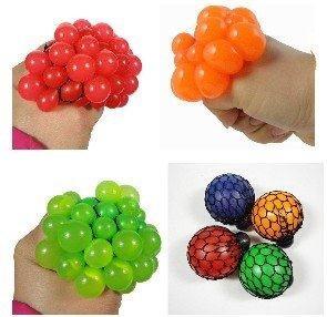 5pcs/Lot 110g Magic Squeeze Grape Soft Rubber Anti Stress Toy Christmas Gift Magic Ball Trick Toy J1378(China (Mainland))