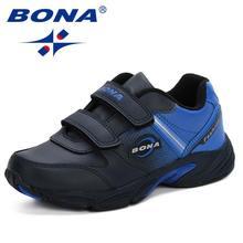 BONA החדש 2019 אביב סתיו חדש ילדי נעליים יומיומיות בני אופנה סניקרס אלגנטי רך לנשימה נוחות(China)