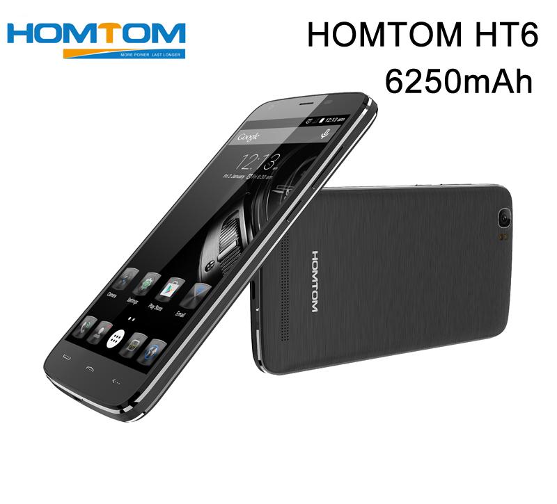 6250mAh Оригинальные Аоп HOMTOM HT6 5.5 дюйма 1920x1080 андроида HD 5.1 СЗД сети 4G-LTE смартфон MT6735P мобильный телефон 2 ГБ оперативной памяти 16 Гб ROM