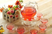 600ml Beautiful Glass Coffee Tea Pot 6 Double wall Cups Warmer Good Gift A3B146D Free Shipping