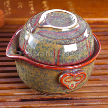 2014 junyao Celadon porcelain Ceramic tea sets Chinese Kung Fu Tea Quik Cup  One pot and One cup free shipping Travel tea makers