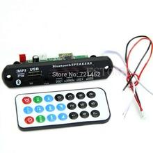 J35 Free Shipping Bluetooth MP3 WMA Decoder Board 12V Wireless Audio Module USB TF Radio for Car(China (Mainland))