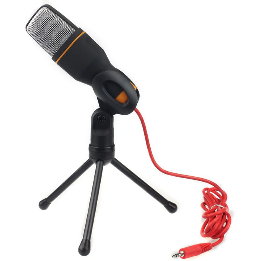2016 New Condenser Sound Studio Microphone Mic For Chat PC Laptop Skype MSN DEC18(China (Mainland))