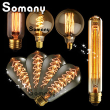 Buy Vintage Bulb Antique Retro Edison Bulbs E14 E27 Incandescent Light Squirrel-cage Decorative Filament Bulb Edison Lamp 110V 220V for $1.20 in AliExpress store