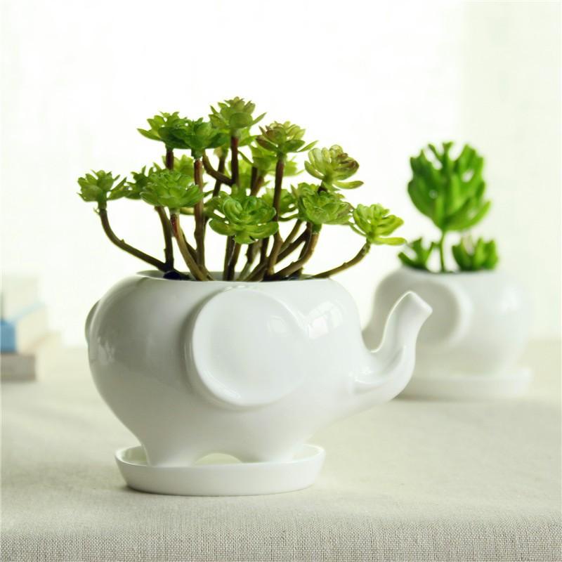 Top Grade Kawaii Animals Ceramic Flowerpot 2 Styles