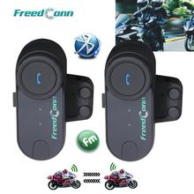 Spedizione gratuita!! 2016 versione aggiornata!!  2 pz originale bt bluetooth del casco del motociclo citofono interphone auricolare con radio fm(China (Mainland))