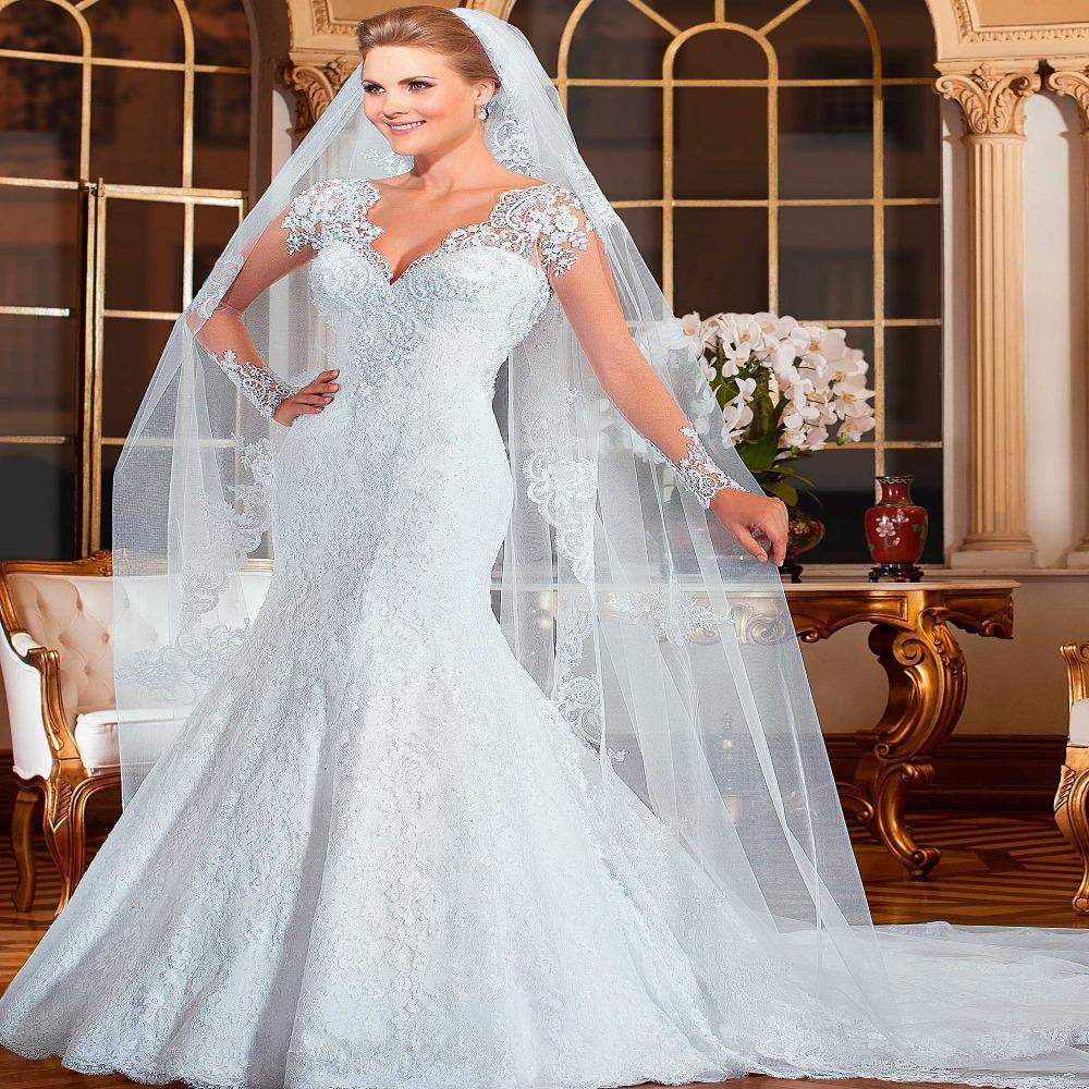 Vestido de noiva 2015 sereia see through back mermaid for Wedding dress with see through back