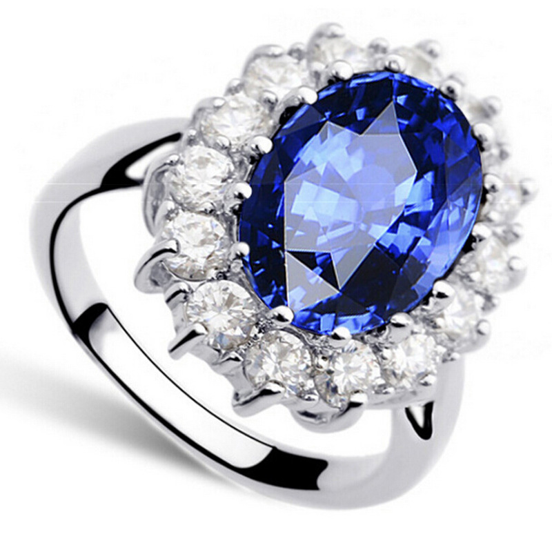 Platinum rhodium plated ring Deluxe Gold Plated Ring Platinum Plated women's fashion jewelry(China (Mainland))