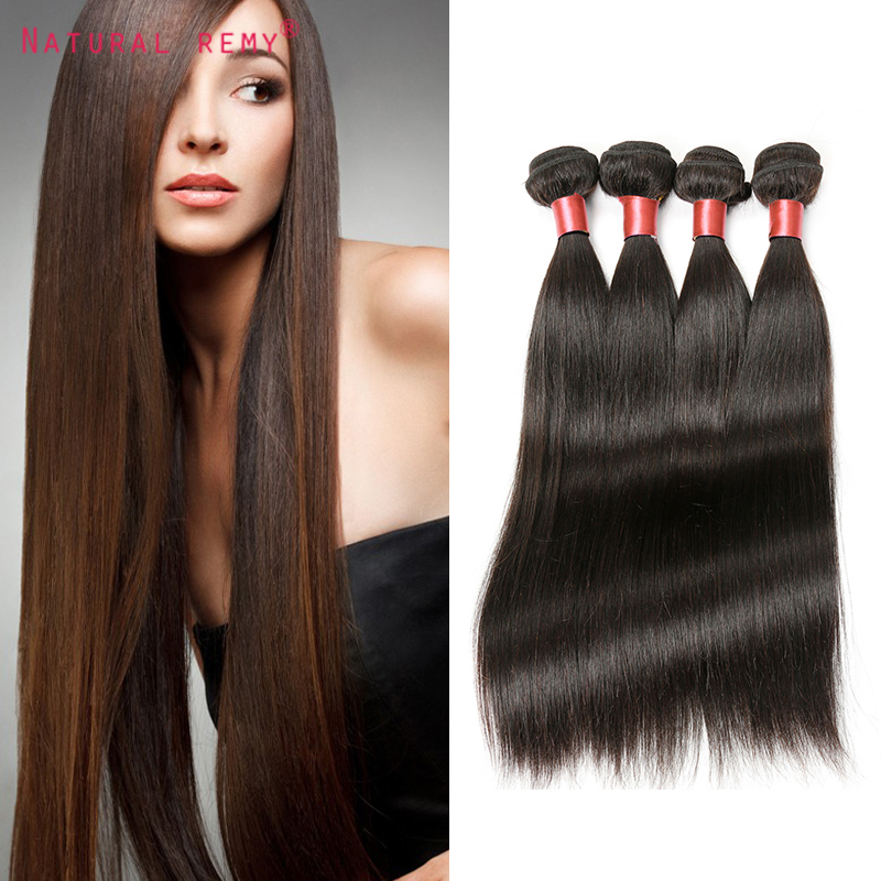 Grade 6A Brazilian Virgin Hair Straight Human Hair Weaves 4Pcs Lot Unprocessed Natural Straight Brazilian Hair Extensions