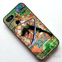 For iphone 4/4s 5/5s 5c SE 6/6s plus ipod touch 4/5/6 back skins mobile cellphone cases cover One Piece Roronoa Zoro