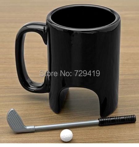 2015 new Interesting creative coffee cup personality ceramic mug with a golf club sports mugs Valentine birthday gift 300 ML()