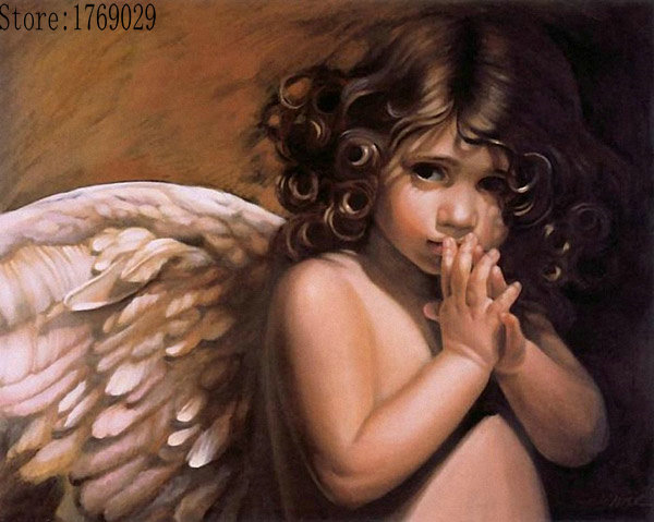 Fairy angel painting by numbers Cuadros home decor wall art decorative pictures for living room diy oil on canvas paint YZ236(China (Mainland))