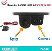 Универсальный звуковой сигнал автомобиль CCD камера заднего вида и датчик парковки два в одном, Дисплей расстояние и изображения монитору автомобиля