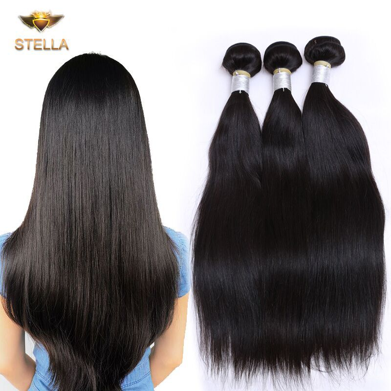 So Beautiful Brazilian Virgin Hair Straight Rosa Hair Company Brazilian Straight Hair Weave 3 Pcs Lot Brazilian Hair Bundles