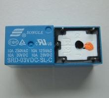 10 unids Relay DC 3 V 5 Pin Mini relés de potencia PCB tipo SRD-03VDC-SL-C alta calidad