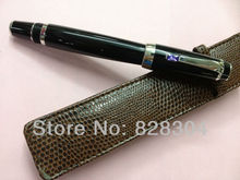 Free shipping high quality black and purple gemstone fountain pen with holster(China (Mainland))